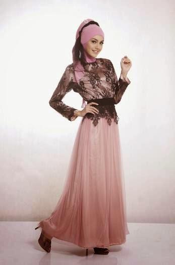 Contoh desain baju muslim kebaya modern remaja