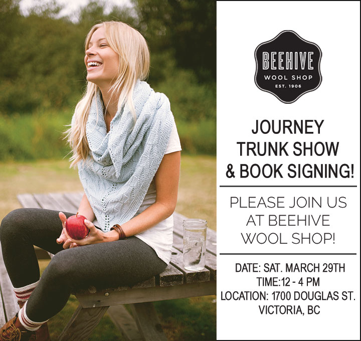 Journey Trunk Show & Book Signing at Beehive Wool Shop