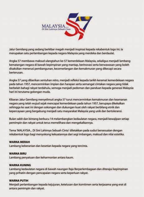 Gambar Mewarna Logo Hari Kemerdekaan 2014