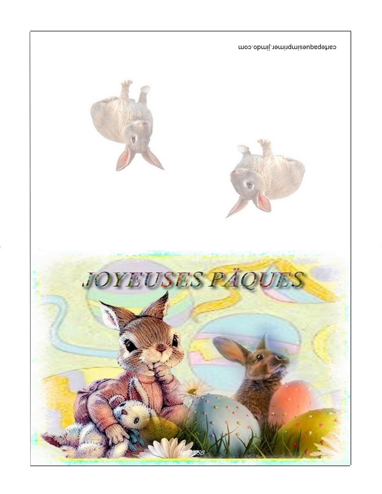 Carte de p ques imprimer gratuites - Carte de paques a imprimer gratuit ...