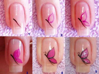 como fazer decoração de unhas simples