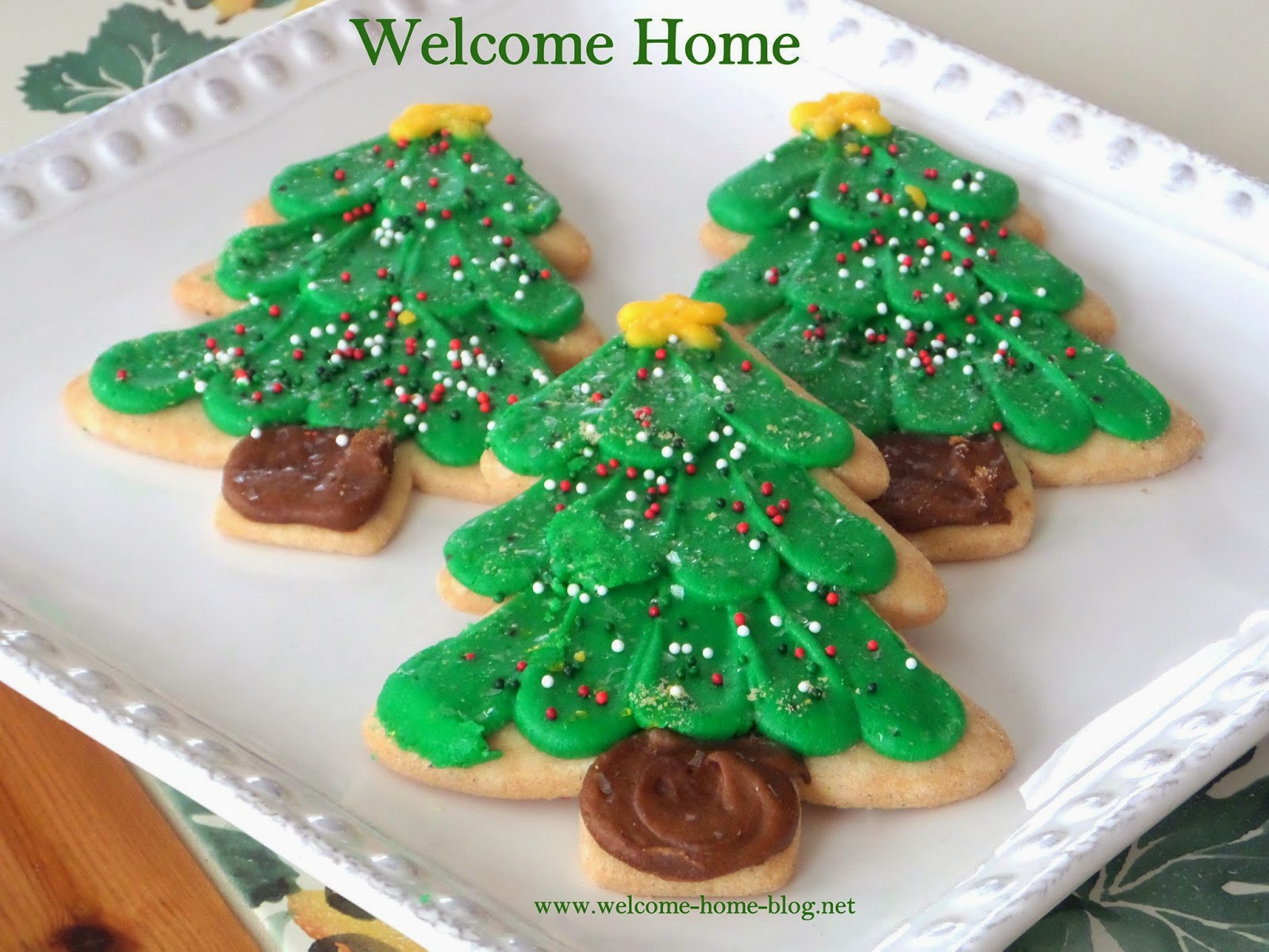 Welcome Home Blog Christmas Tree Sugar Cookies