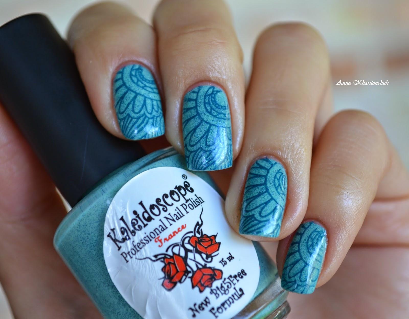El Corazone Kaleidoscope № Spring-08 «Зов колокольчиков» и стемпинг Born Pretty Store