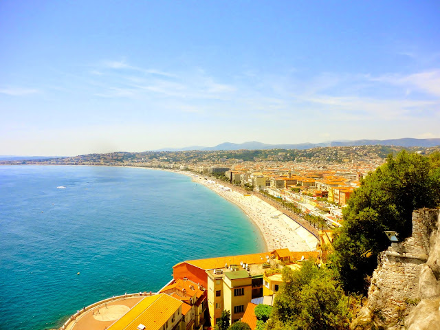 View from Colline de Chateau of Nice, France