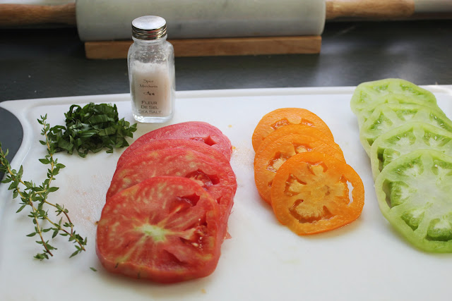 Heirloom tomatoes and fleur de sel