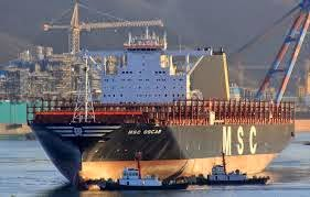 MSC Oscar in the shipyard