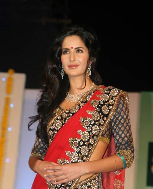 Katrina Kaif In Red Saree