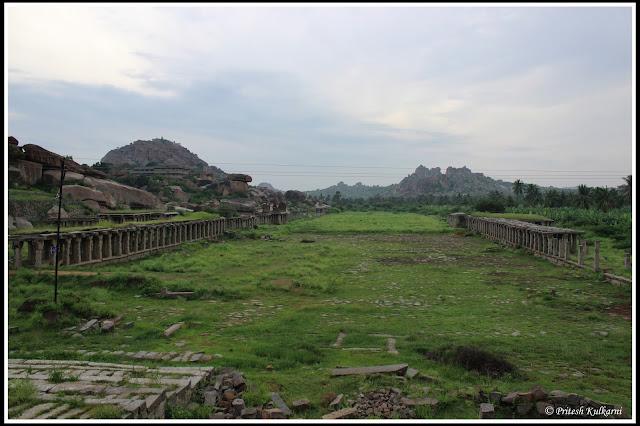 Market ruins outside BalaKrishna temple