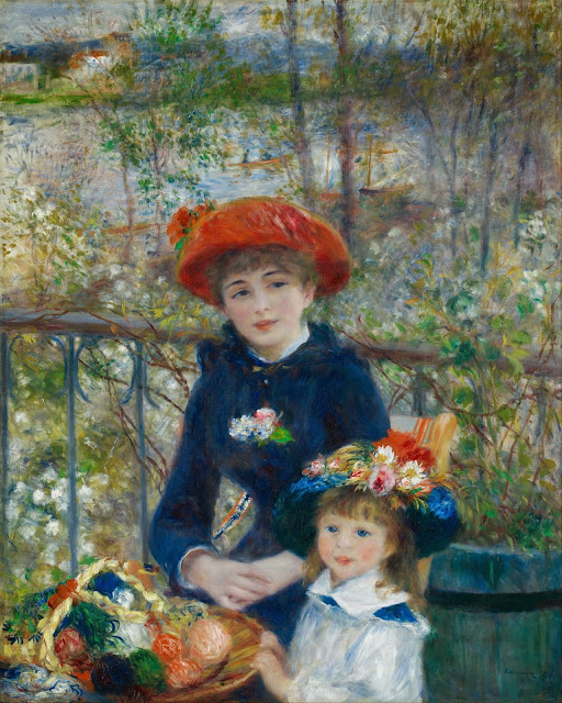 "Picture of ""Two Sisters (On the Terrace)"" by Renoir, 1881"