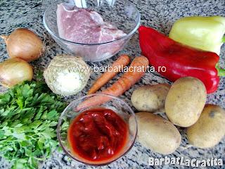 Tocanita de porc cu cartofi ingrediente reteta