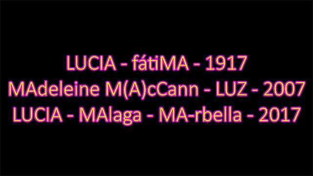 Lucía Vivar, Lucía de Fátima y Madeleine McCann