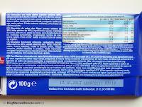 Ingredientes e información nutricional del chocolate con leche (con nata alpina) Maurinus de Aldi.
