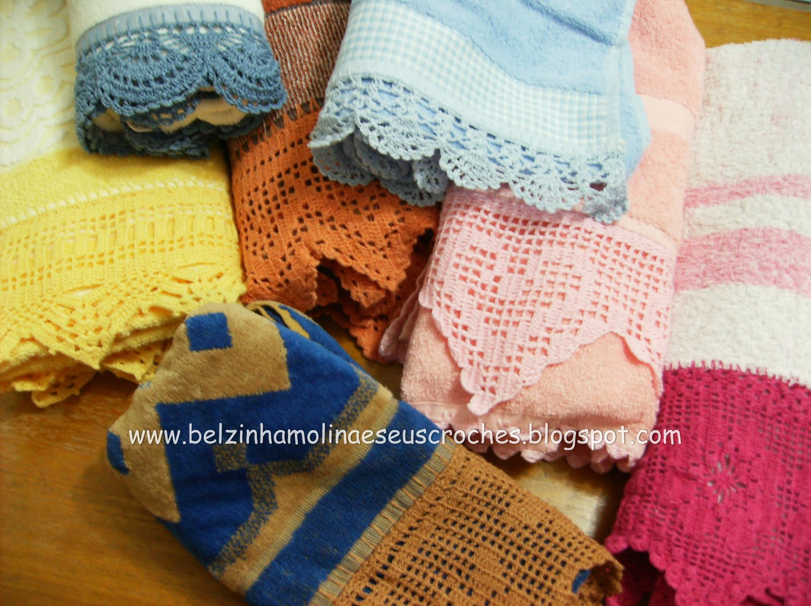 Barrados Em Croch   Para Toalhas De Banho E Rosto  A Maioria Em