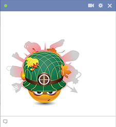 Soldier emoticon for Facebook