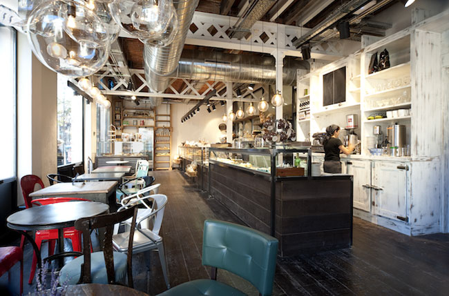 White apartment vintage and industrial bakery - Decoracion industrial vintage ...