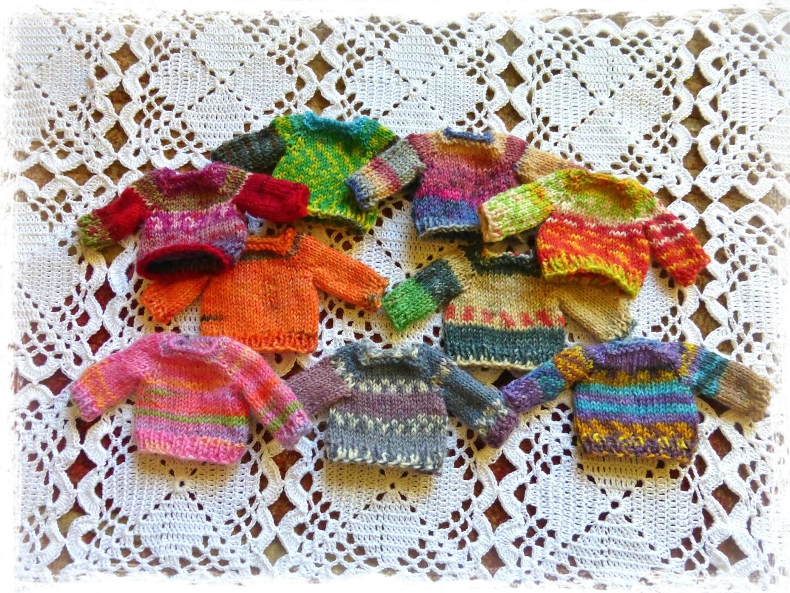 Yellow, Pink and Sparkly: Mini Balls of Yarn, Mini Sweaters and Mini ...