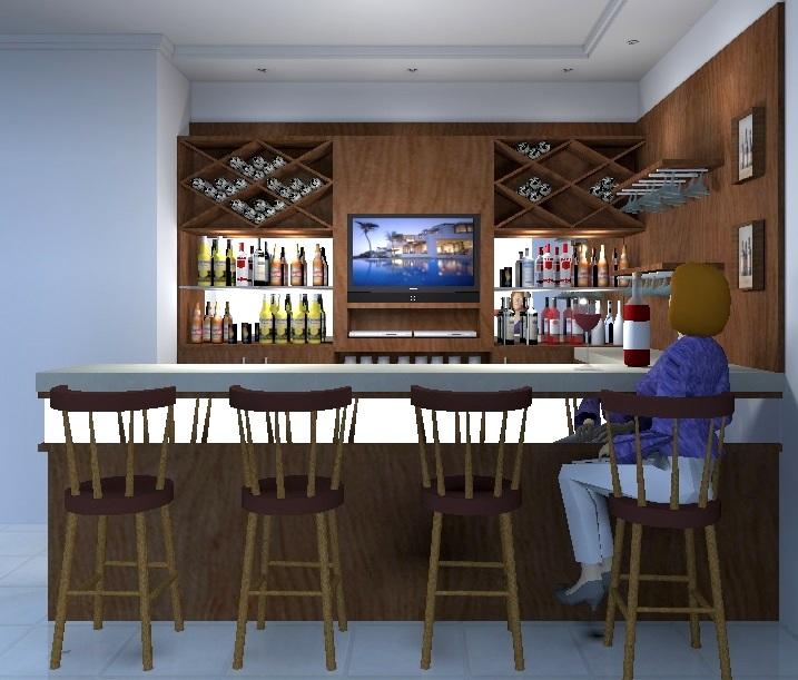 Decora o e interiores bares o sabor na reuni o de for Bares rusticos modernos