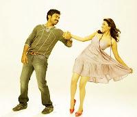 Kajal, agarwal, and, karthi, in, romance, scene