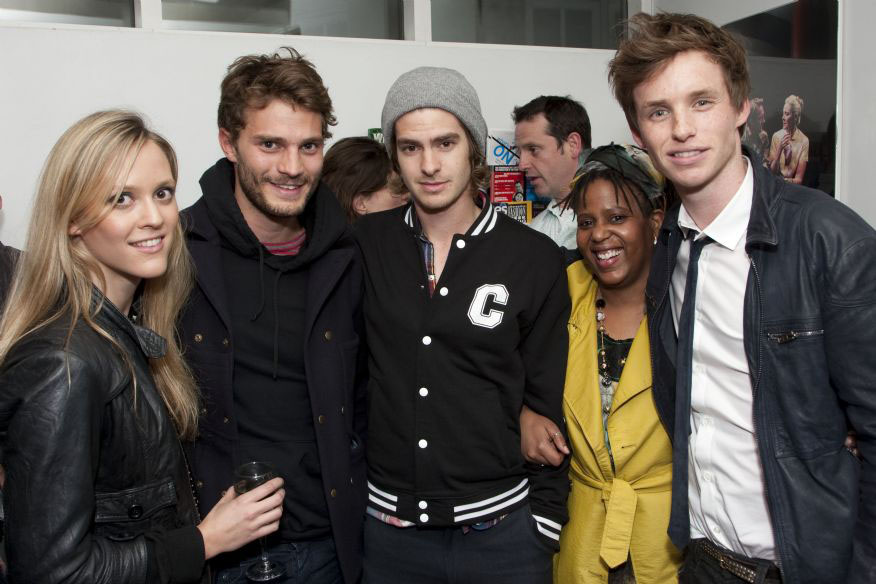 Addicted to Eddie: Eddie, Andrew Garfield and Jamie Dornan are ...