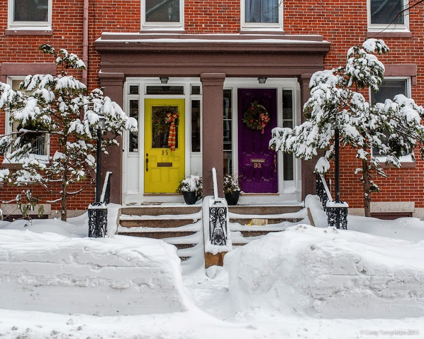 Portland, Maine January 2015 Snow on Park Street doorway photo by Corey Templeton