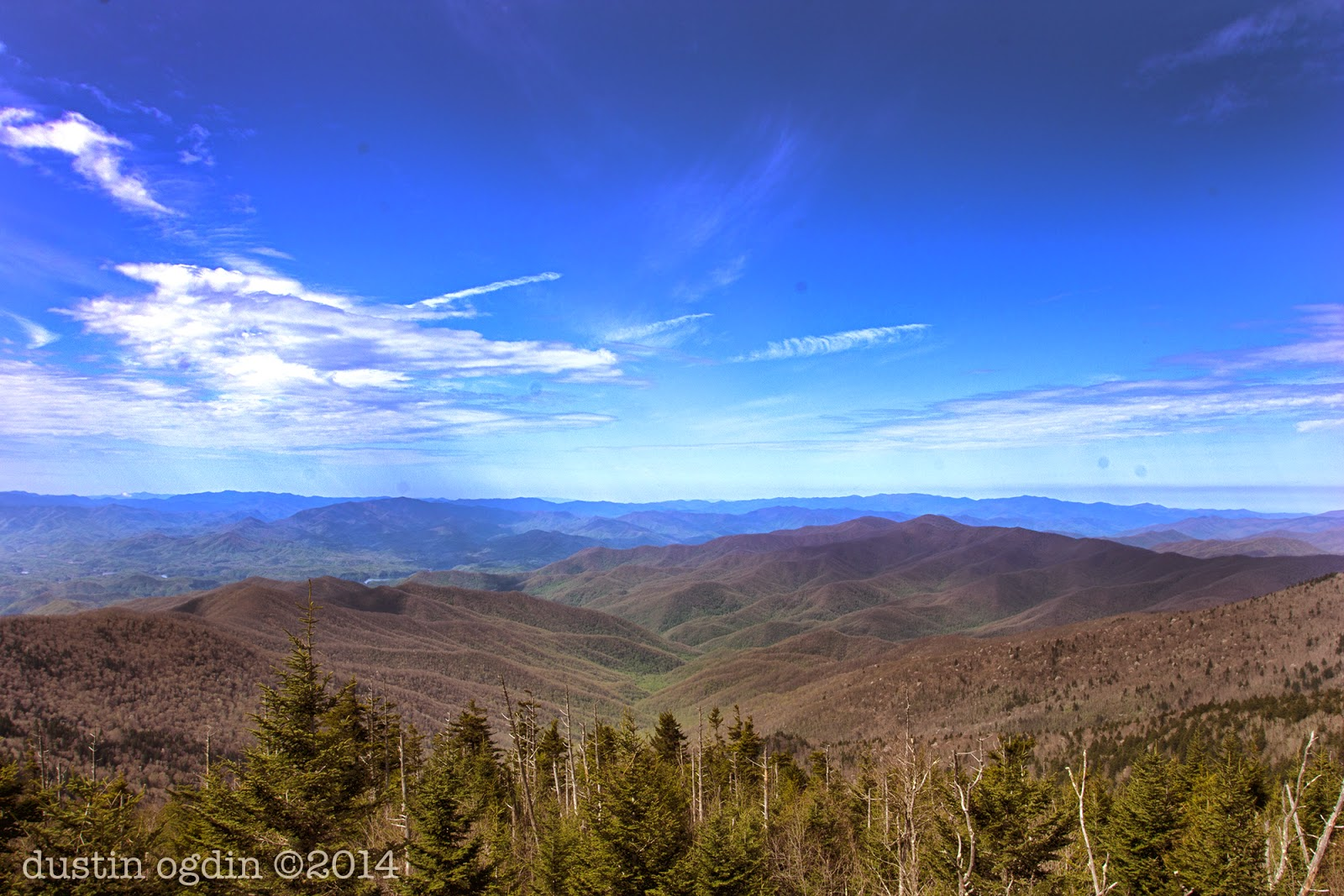 GSMNP, view from Clingman's Dome, mid morning