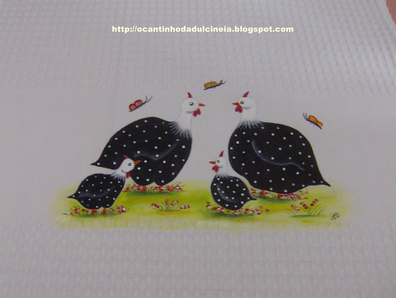 Pintura em tecido no cantinho da Dulcineia