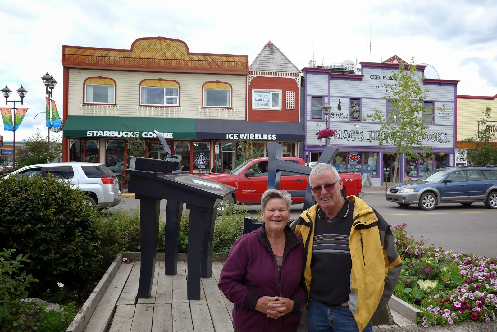 Lisbeth and Hansuli in Whitehorse, Yukon.