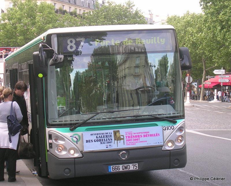 Les tramways m tro rer bus de la ratp bus 87 - Ligne 118 bus ...