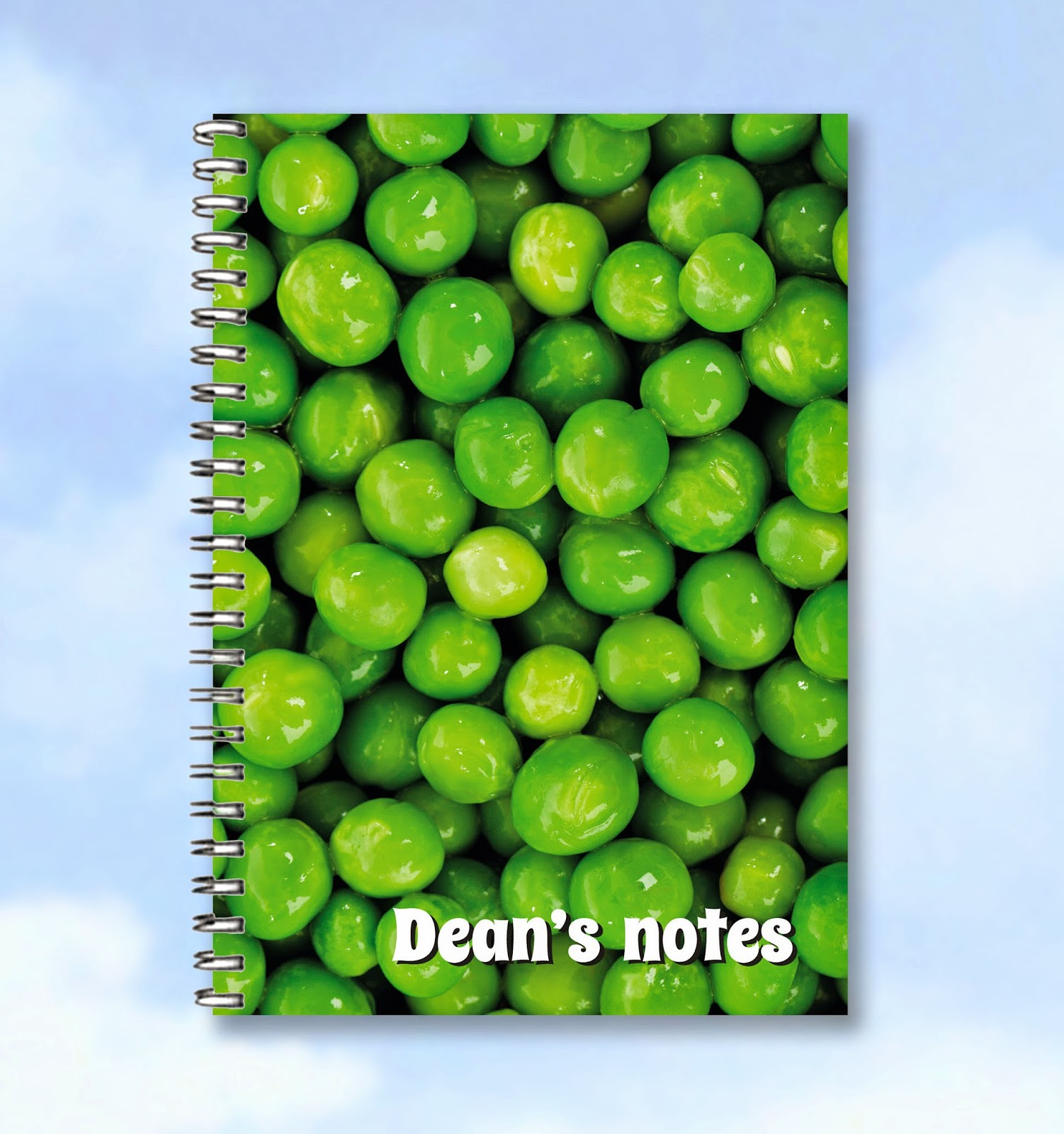 http://www.buzzinvites.com/product/personalised-printed-notebook-peas/
