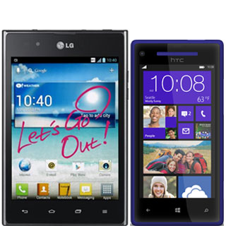 LG Optimus Vu vs HTC Windows Phone 8X