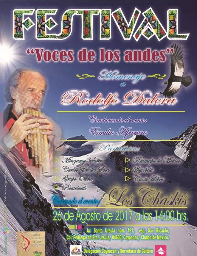 FESTIVAL VOCES DE LOS ANDES - HOMENAJE A RODOLFO DALERA