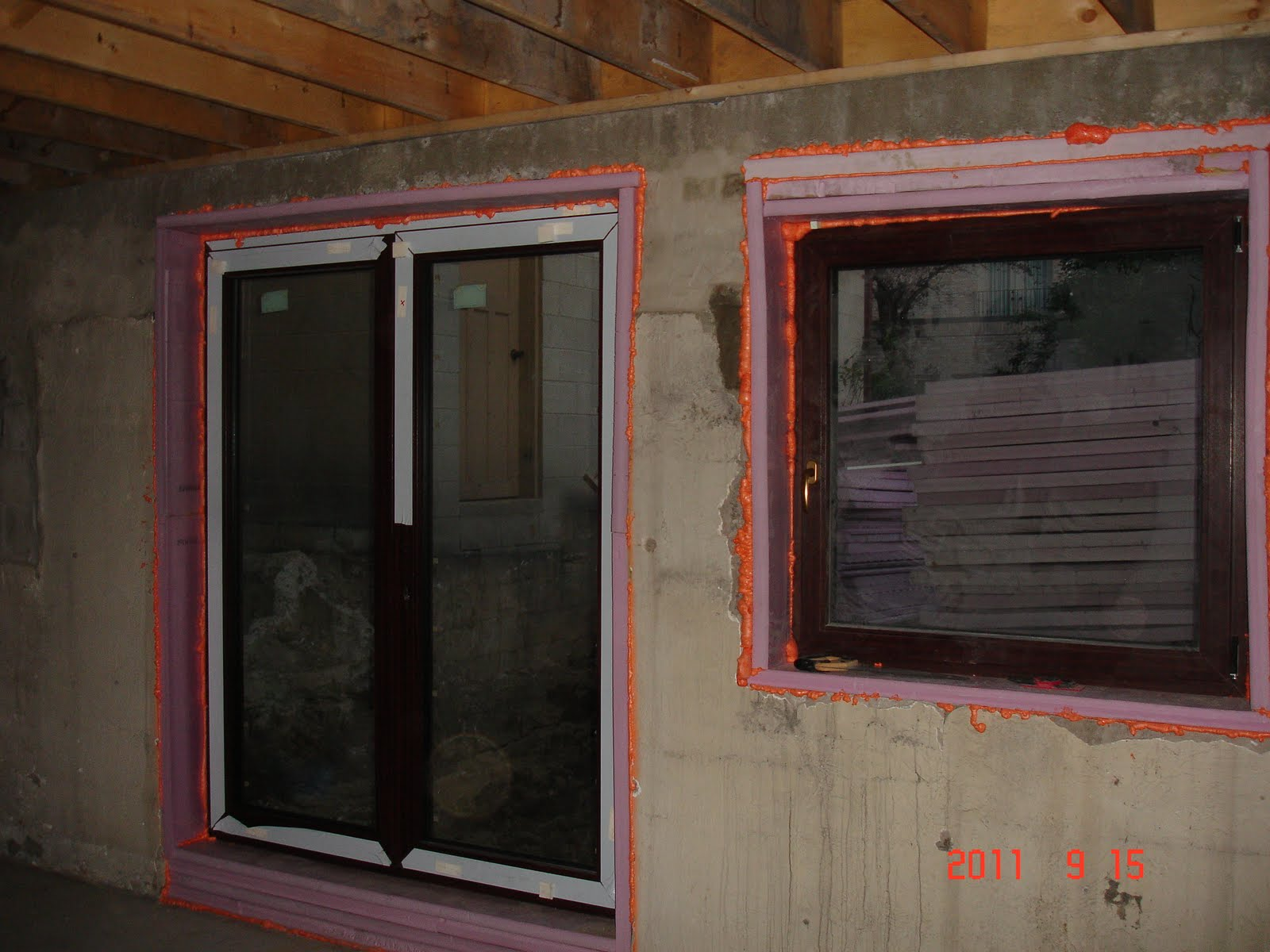 The reno coach passive house project in toronto doors and for Walkout basement windows