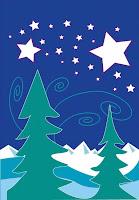 winter solstice garden flag
