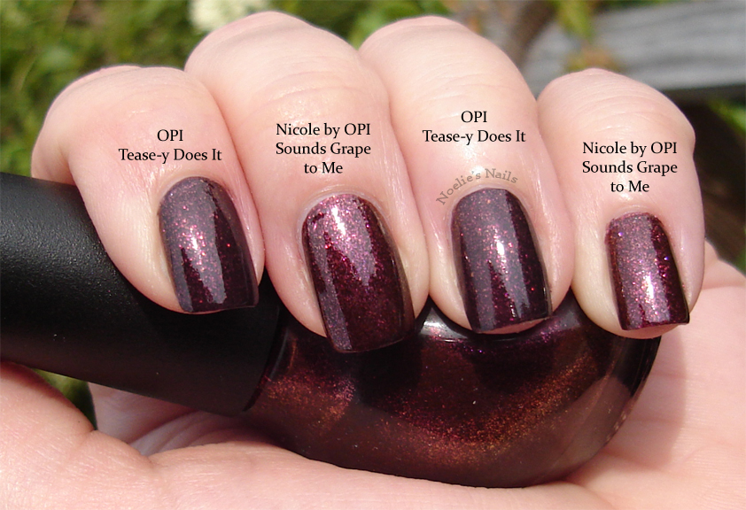 Noelie\'s Nails: Comparison - Nicole by OPI Sounds Grape to Me & OPI ...