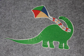 Create a world, giant fuzzy felts, dinosaur kite