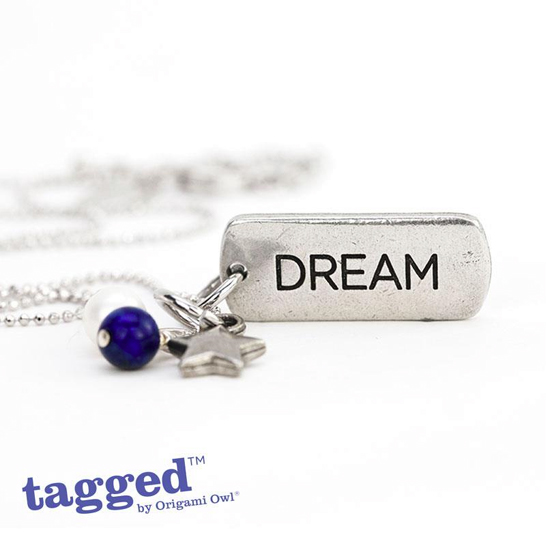 DREAM Tagged Necklace by Origami Owl from StoriedCharms.com