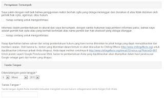 Google DMCA_pernyataan dan tanda tangan