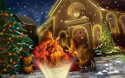 Papel de Parede Natal Nascimento de Jesus Nativity christmas scene hd wallpaper