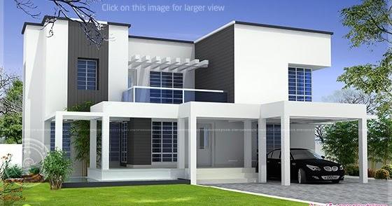Vastu Based Box Type Modern Home Design Kerala Home