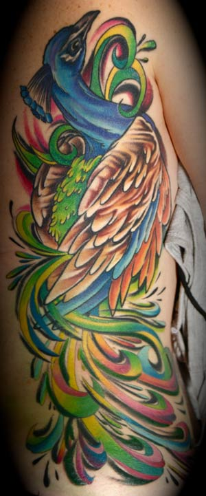peacock tattoo gallery