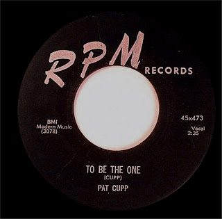 WHITE DOO-WOP COLLECTOR: PAT CUPP_To Be The One