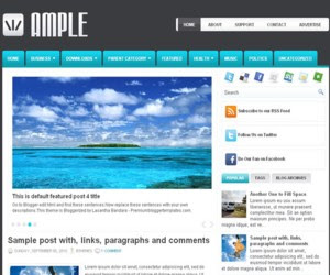 Ample Blogger Template