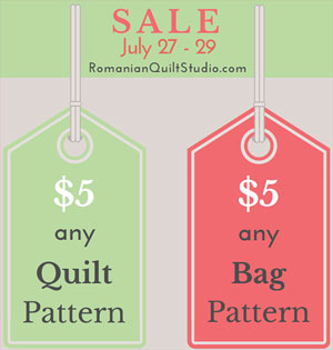 SALE- Quilt and Bag Patterns