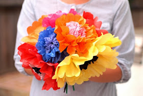 how to fold beautiful multi-color, realistic tissue paper flowers the super easy way