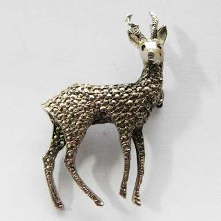 marcasite deer jewellery