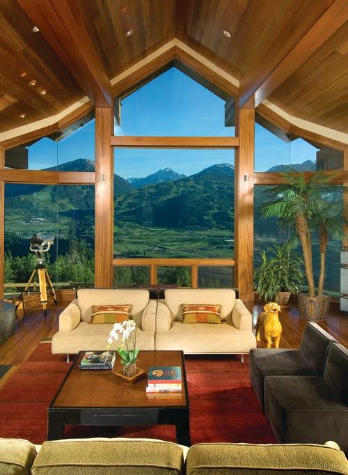 Ruang keluarga menghadap view terbaik