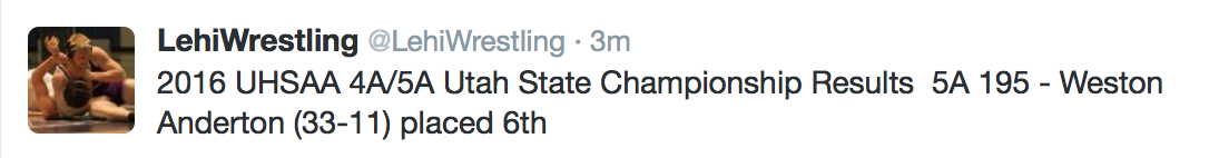 2015-16 Utah State Wrestling Championship