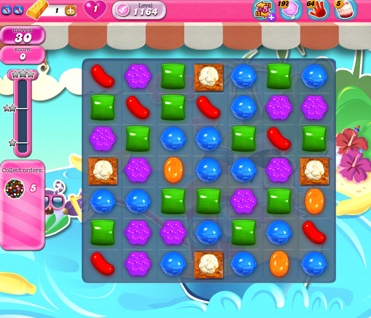 Candy Crush Saga 1164