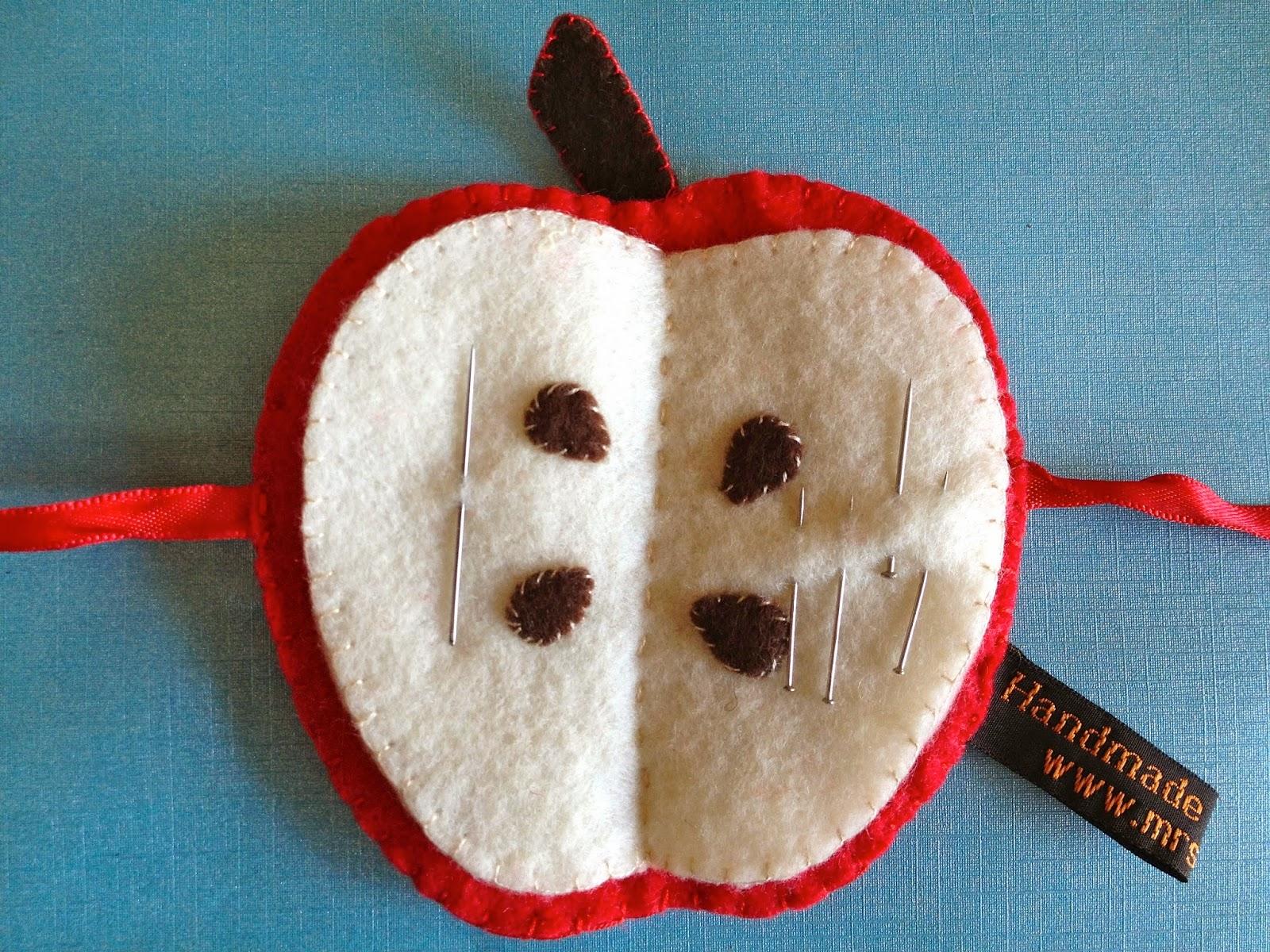 Mrs Fox's Crafty Boxes - A Felt Apple Needle Case