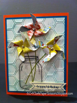 Pinwheel Sizzlits Big Shot perfectly preserved card by Ida Chan